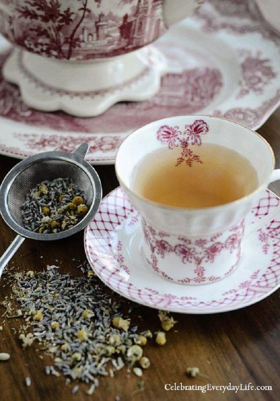 Ceai de lavanda cu musetel